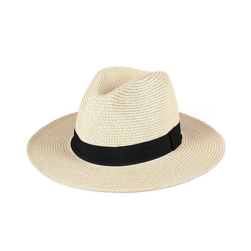 Chapeau de paille panama plat 1