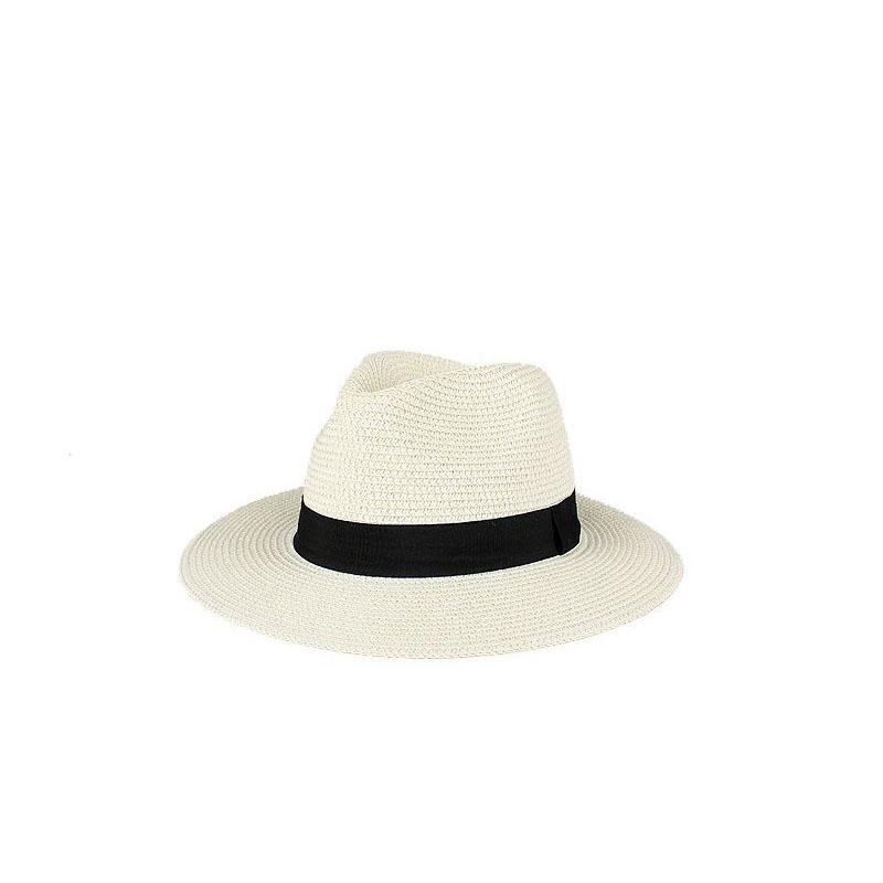 Chapeau de paille panama plat 3