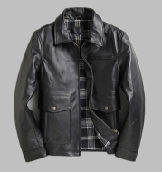 Men's Top Layer Cowhide Leather Jacket