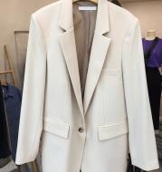 New Simple Temperament White Suit Jacket Women