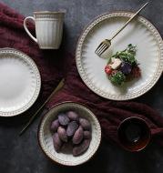 Relief Ceramic Tableware For Western Food