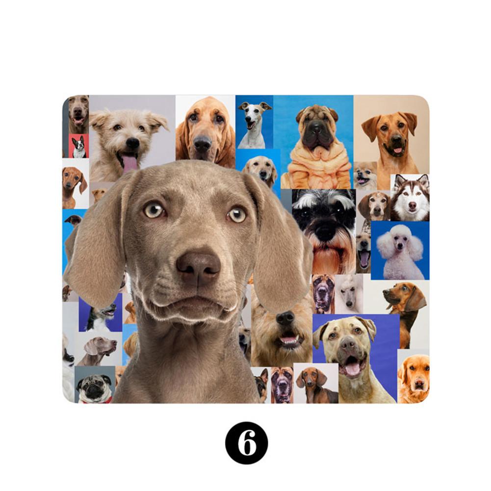 Tapis de souris chiot Weimaraner sur mosaïque de chiens