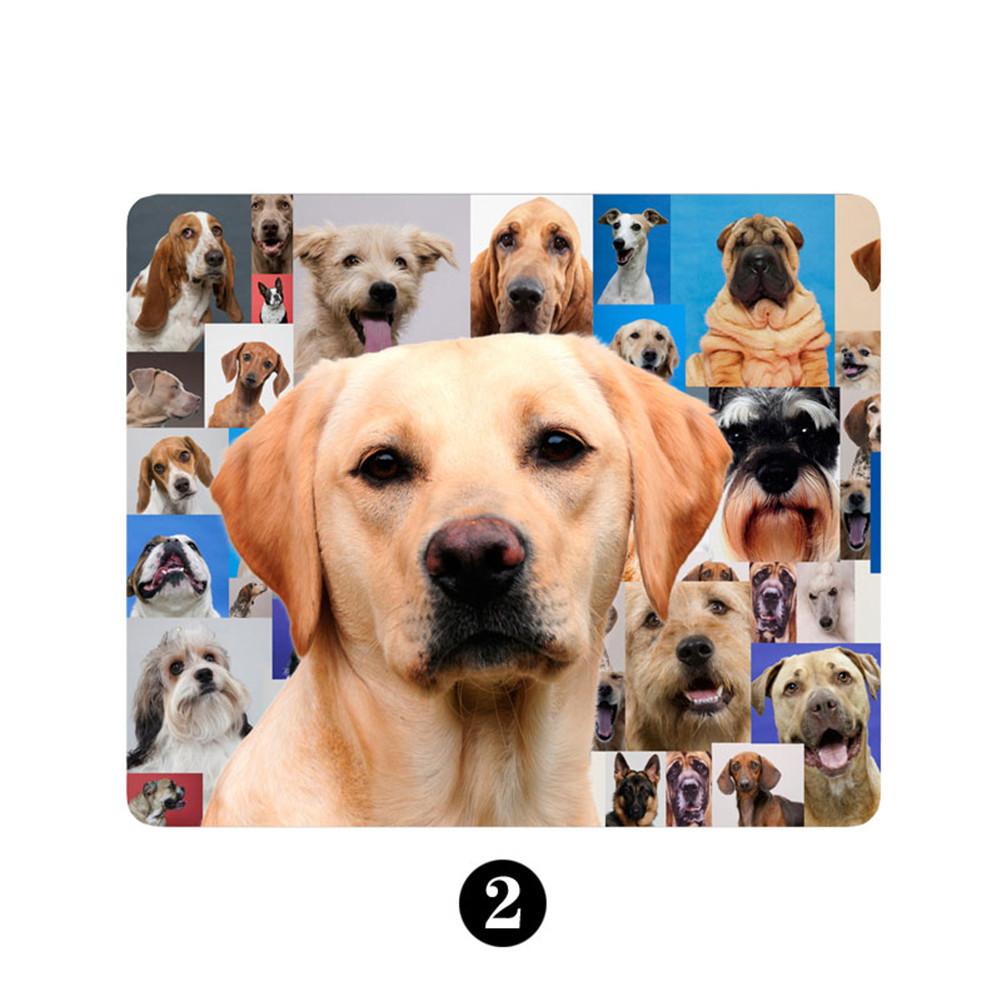 Tapis de souris chiot Labrador sur mosaïque de chiens