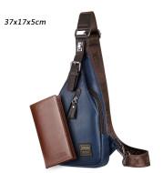 JackKevin Men's Fashion Crossbody Bag Theftproof Rotatable
