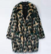 Color Eco Friendly Fox Fur Coat Women's Mid Length