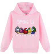 Boys And Girls Cartoon Print Spring And Autumn Hoodie Sweater