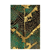 Decorative Picture Of Golden Leaf Pattern