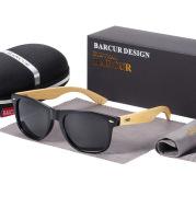 Polarized Bamboo Sunglasses Men Wooden Sun glasses for Women