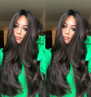 Half-length Long Curly Big Wavy Female Long Hair