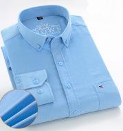 Men's Cotton Corduroy Long Sleeve Shirt Business Slim Casual