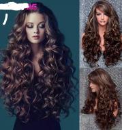Curly Big Wave Rose Net Wig