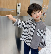 Small And Medium-sized Children's Striped Shirt Baby Long-sleeved Top