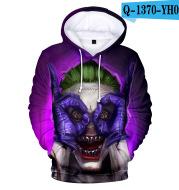 Poker Clown Print Hooded Sweater