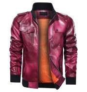 Men s Autumn And Winter Leather Jacket Motorcycle Jacket