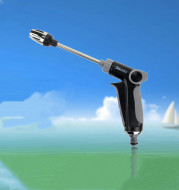 Metal Extension Rod Electroplating Nozzle One-Button Switch High-Pressure Water Gun