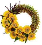 Artificial Silk Flower Thanksgiving Day Door Decoration Wall Hanging Wreath