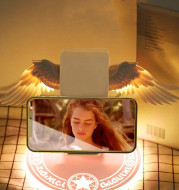 Universal Colorful LED Angel Wings Qi Wireless Charger Charge Dock For Mobile Phone Fast Charger