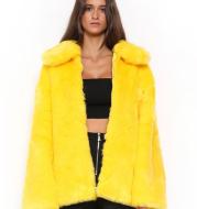 Faux Fur Soil Cool Gothic Furry Coat Jacket