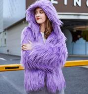 Faux Fur Washed Wool Long Hair Coat Women's Short Plush Cardigan