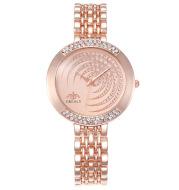 Full Diamond Fashion Alloy Set Creative Dial Steel Band Casual Wrist Watch