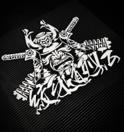 Japanese Black Samurai Stickers Modified Car Stickers Rear Gear Stickers Rear Windshield Stickers JDM Reflective Decorative Stickers