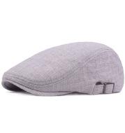 Retro Distressed Forward Hat Outdoor Tourist Hat Monochrome Beret