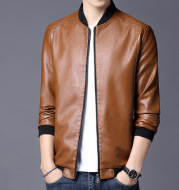 Slim-Fit Handsome Youth Motorcycle Leather Jacket