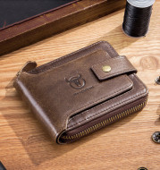 Horizontal Leather Driver's License, Multi-Position Thickened Photo Album, Anti-Theft Brush