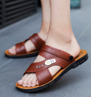2020 Summer New Korean Style Trendy Slippers For Men All-Match Outdoor Beach Shoes