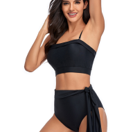 Cross Border Exclusive For 2021 New Bikini High Waist Split Body Swimsuit in Europe And America
