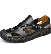 Fashion Simple Men's Casual Leather Sandals