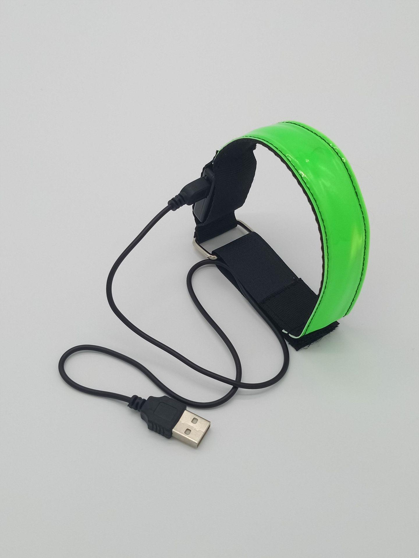 USB Charging LED Luminous Night Running Armband Bracelet Night Reflective Safety Belt Outdoor Sports Luminous Arm Band