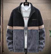 Men's Casual Jacket Trend Stand-Up Collar Tooling Jacket Handsome Baseball Uniform Top