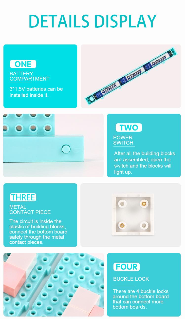 DIY LED Flashing Light Electronic Building Blocks