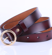 Leather Belt Female Round Head Pin Buckle