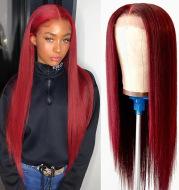 Medium Part Straight Hair Mechanism Chemical Fiber Hair High Temperature Silk Wig