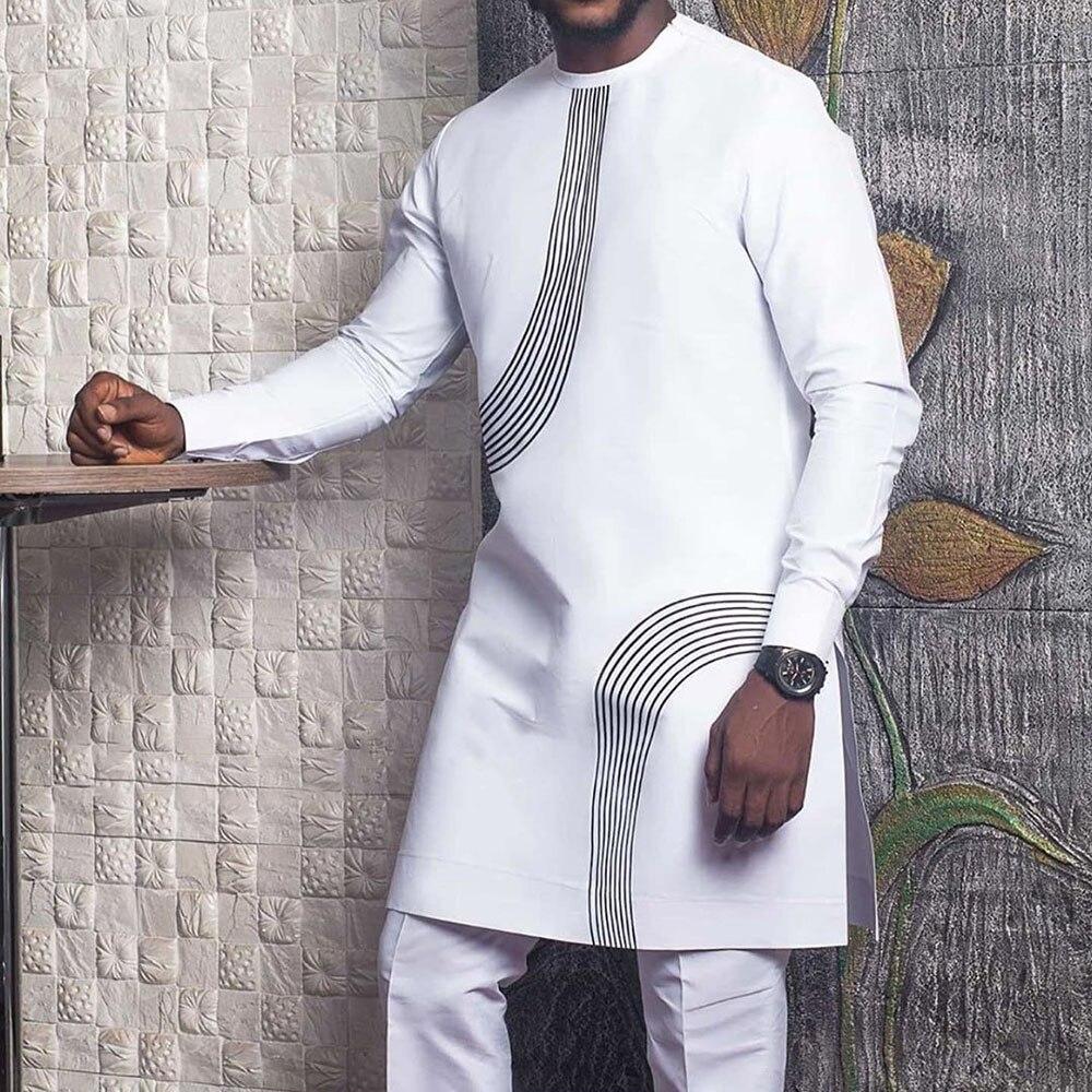 Chemise Africain en coton design demi-rond