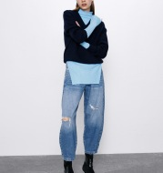 Casual Design Slim-Fit Ripped All-Match Jeans