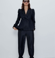 Loose Elasticated Casual Trousers With Pleated Hem Mosquito Pants