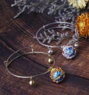 Bronze Cloisonne fragrance palace bell Bracelet palace Retro Style Bracelet dark fragrance sleeve hollow out national style bracelet