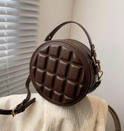Pu Chocolate One-shoulder Diagonal Bag
