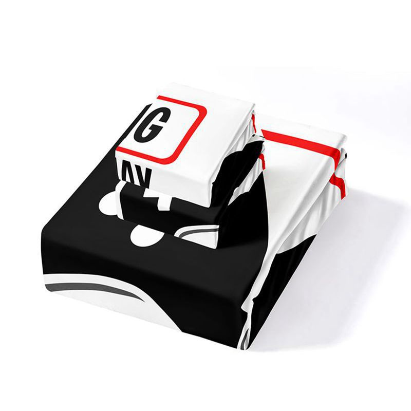 Mobile Game Elements 3D Digital Printing Duvet Cover