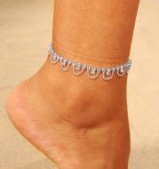 European and American Geometric Diamond Foot Ornaments