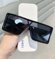 Large Frame Sunglasses Thick Frame One-Piece Lens Sunglasses Anti-Ultraviolet Sun Visor Glasses Men