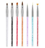 7 Sets Of Rhinestone Nail Pens