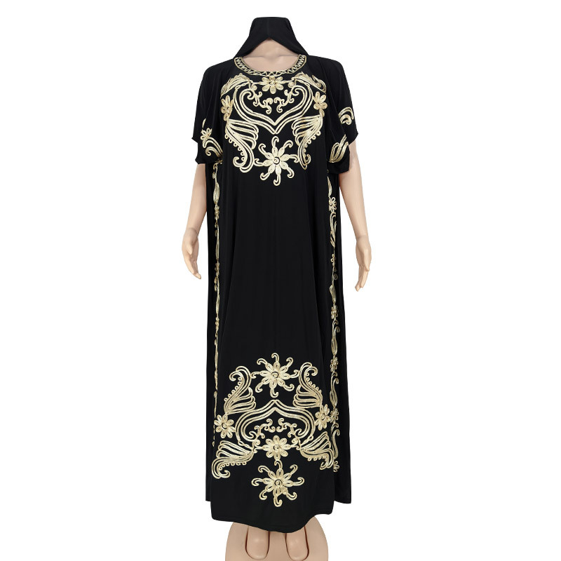 Embroidered Dress Ice Silk Robe