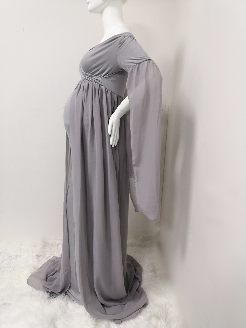 Chiffon Cloak Maternity Party Dress Photograph Photography Long Skirt