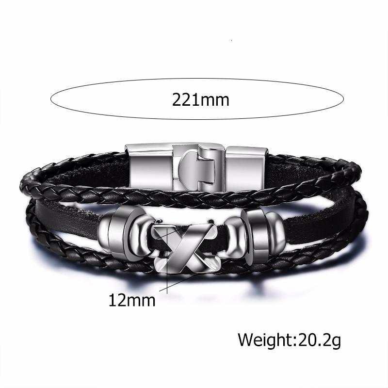 Alloy Ship Helmsman Rope Black Brown Men's Trendy Bracelet