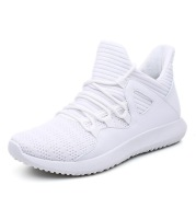 Trendy Men's Shoes Korean Casual All-Match Running Shoes Men's Sports Breathable Net Shoes Flying Woven Shoes