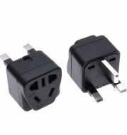Square Three Plug Power Conversion Adapter